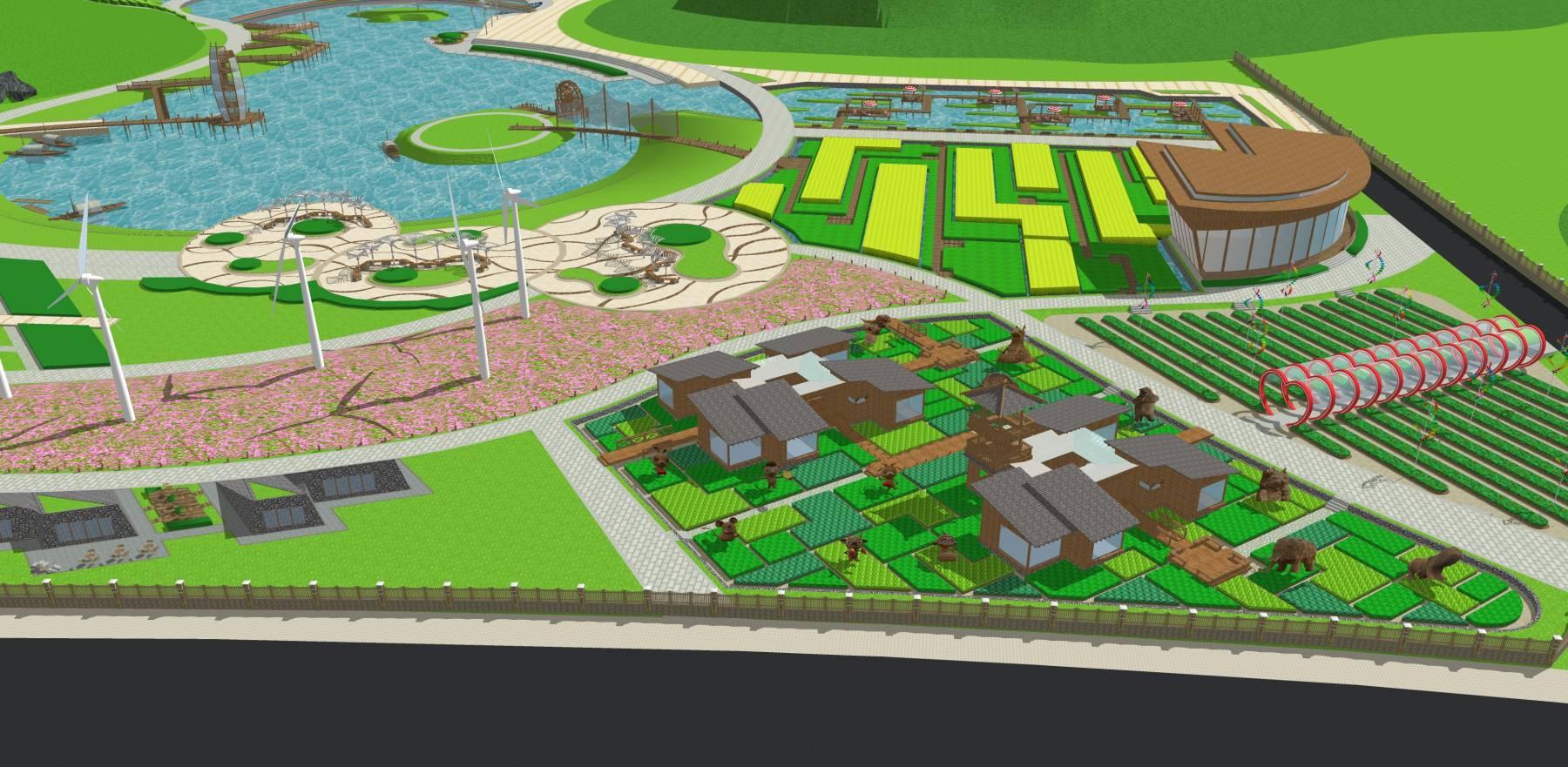 生态农业展示地块生态牧场su