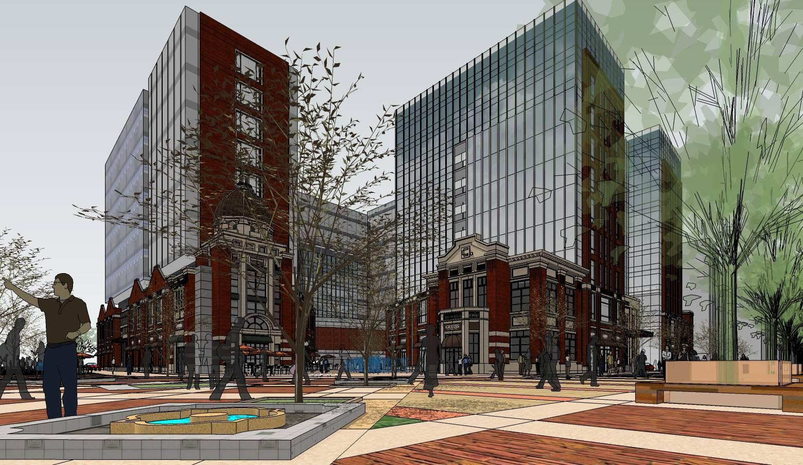 海派英伦风格大型商业建筑sketchup模型
