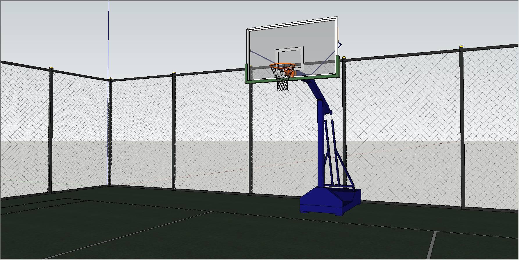 篮球场_精细模型