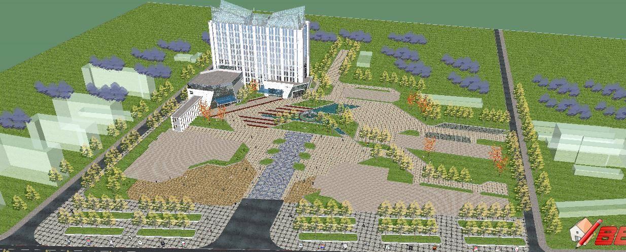 商务办公楼设计-商业公寓酒店办公
