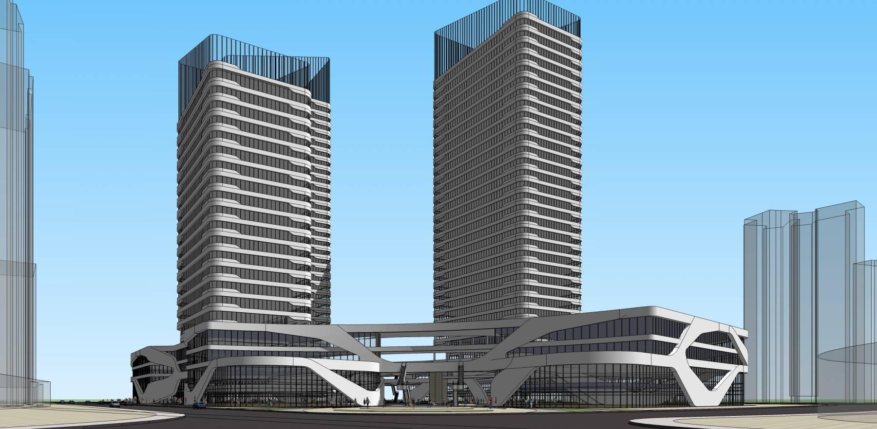 商业综合体造型优美商业大楼
