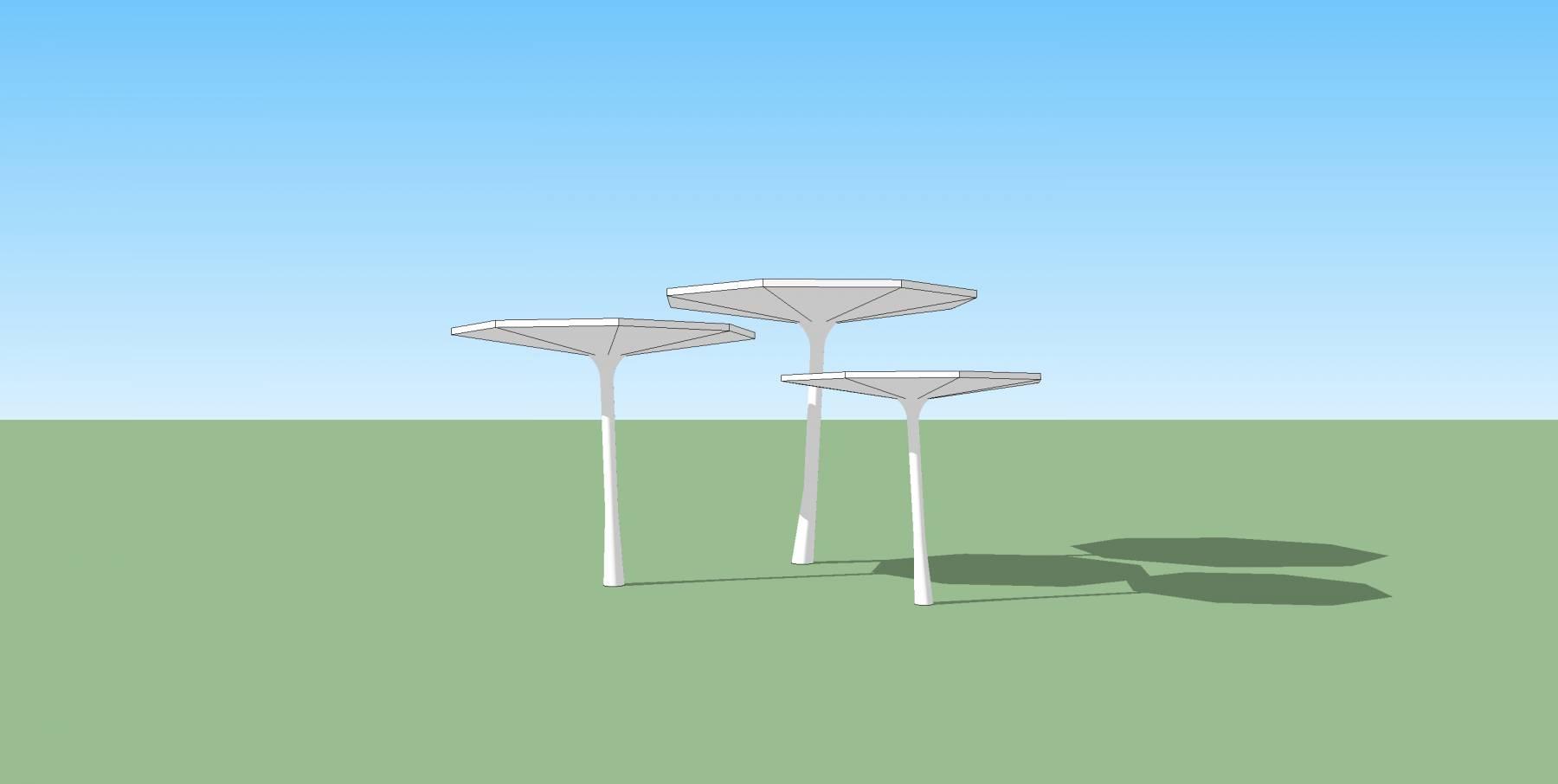 蘑菇亭0su雕塑小品构架