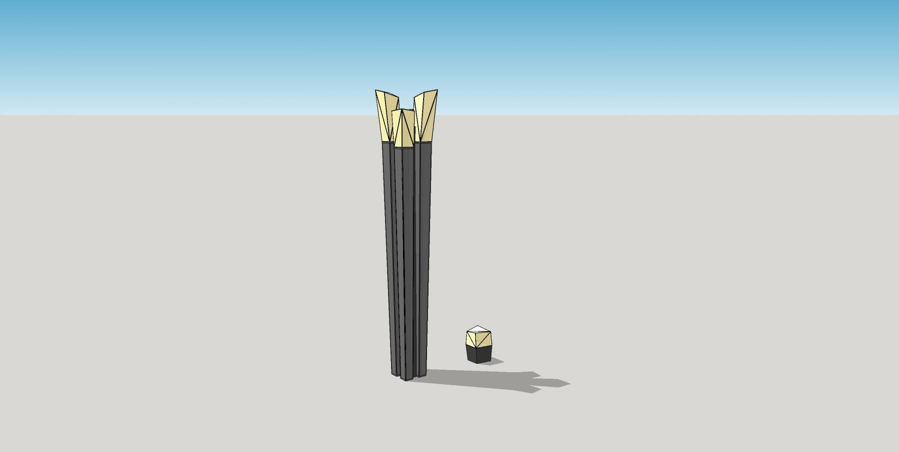 简约时尚灯具1灯柱景观灯