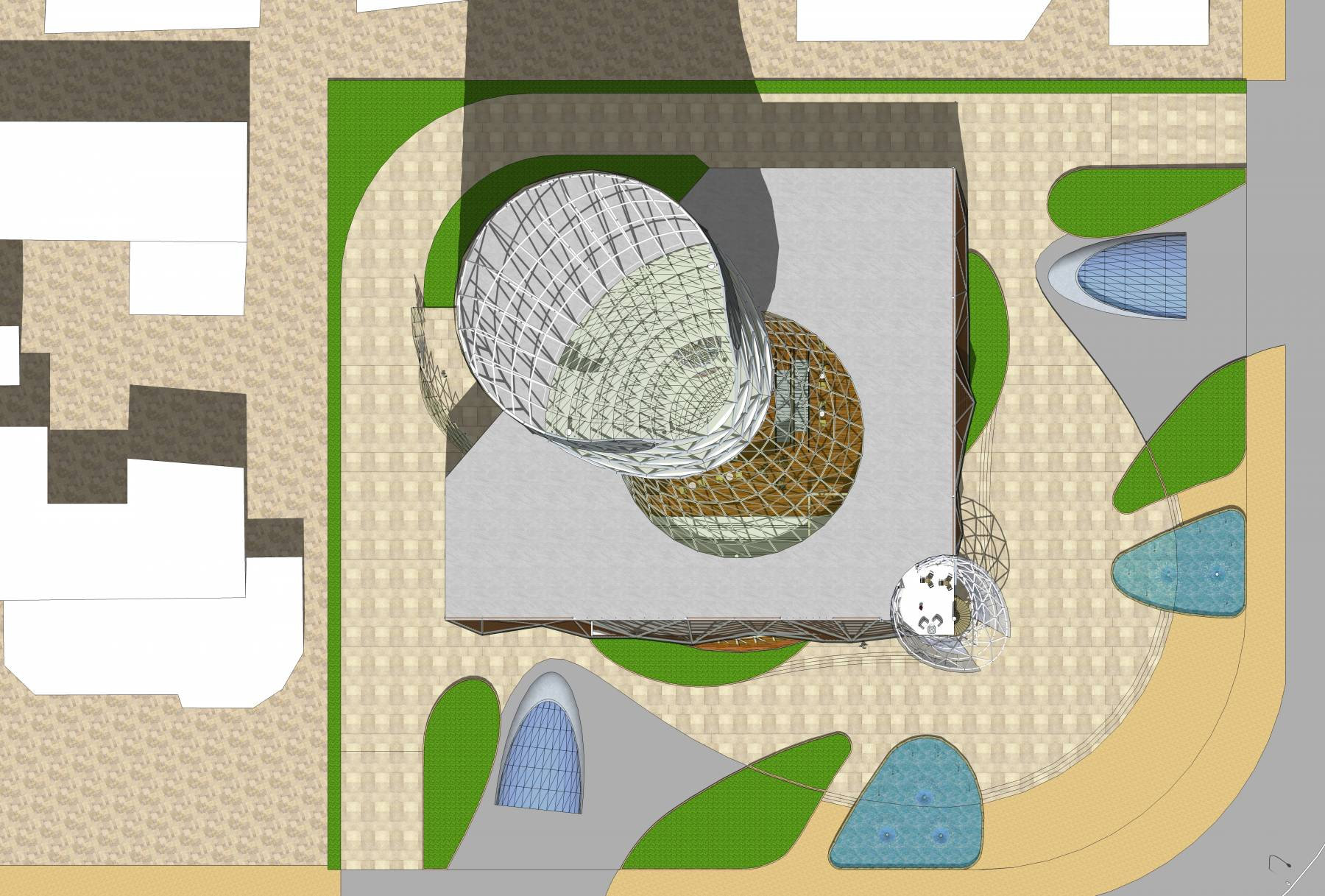 参数化高层办公楼设计(含精细室内)