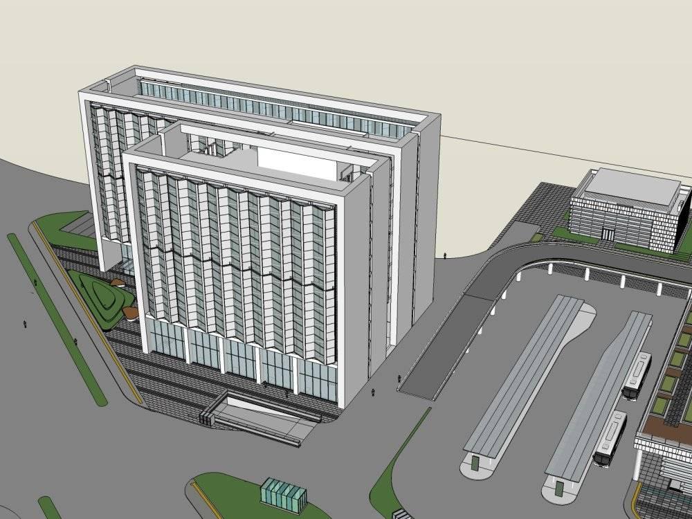 商业综合体广场(含停车场)