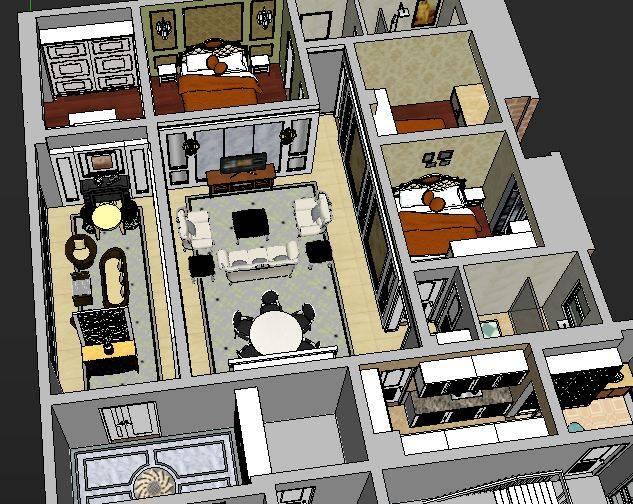不语-欧式全套su室内模型
