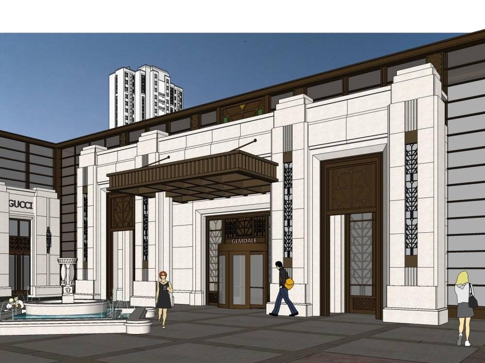 青岛金地悦峰南入口 新古典高层+售楼处