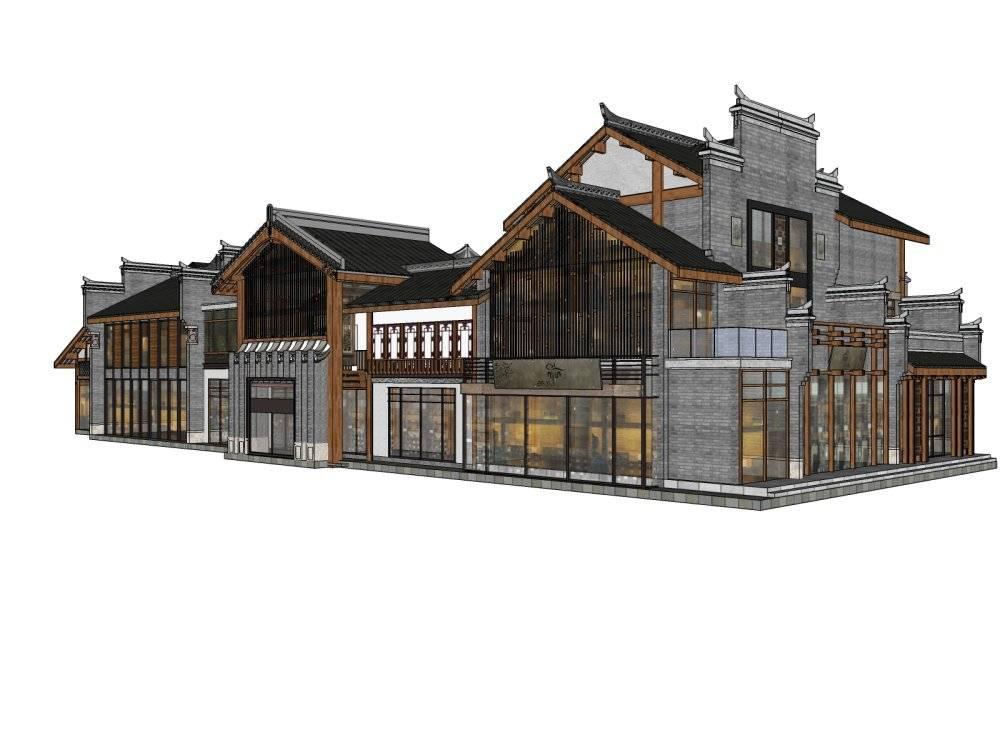中式商业街楼