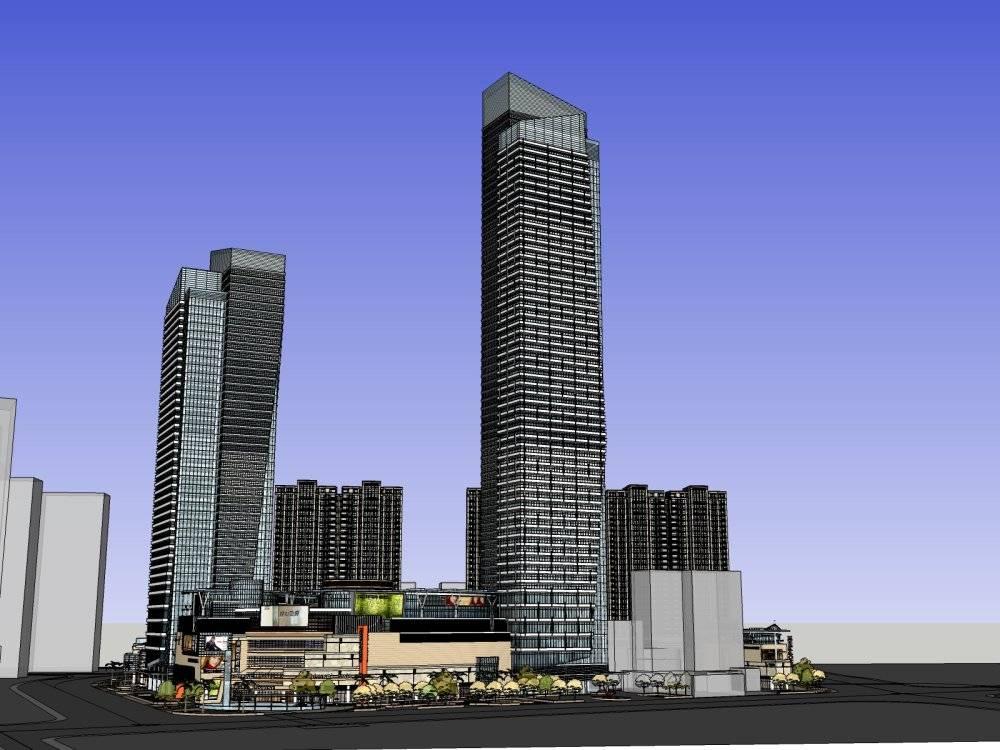 中标商业综合体+住宅楼