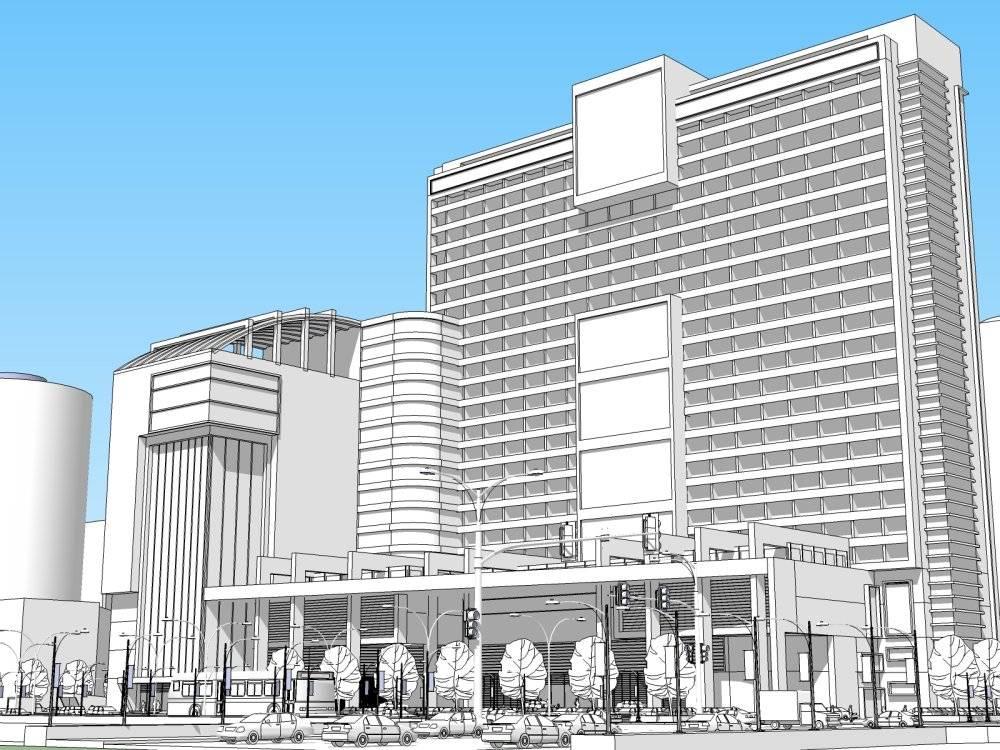 综合商业中心 酒店