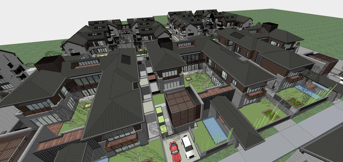 新中式别墅区-草原风格