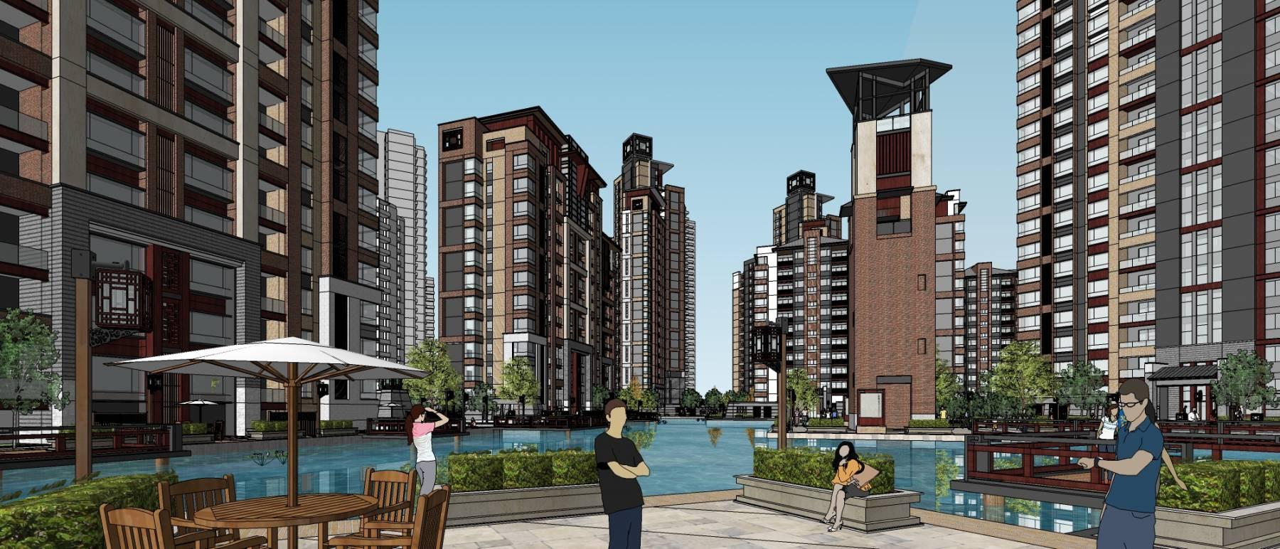 西安大明小区规划设计新中式风格
