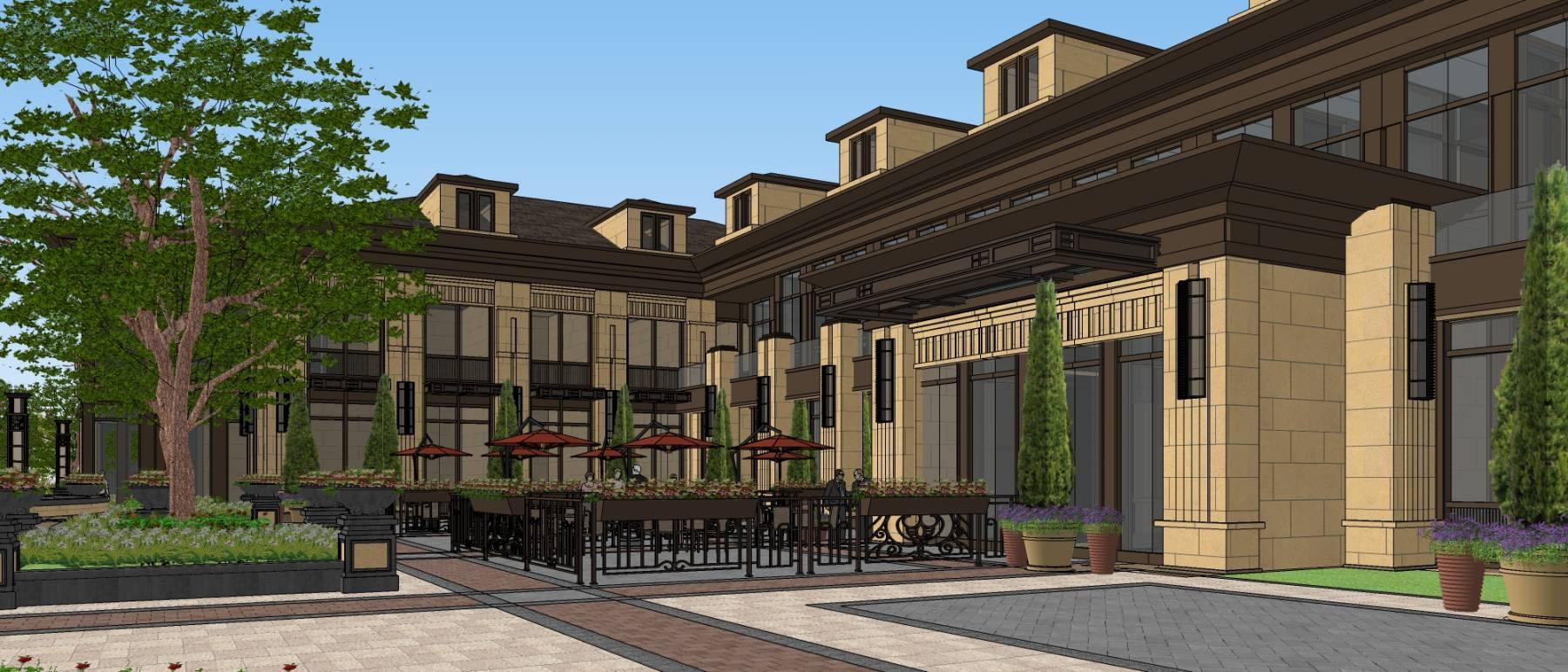 济南华润兴隆-欧式古典风格商业建筑与景观设计