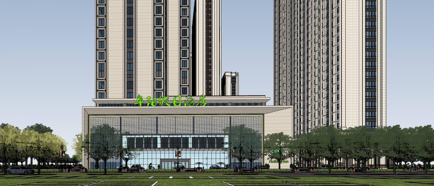 阜阳商业综合体-商业办公酒店-现代典雅