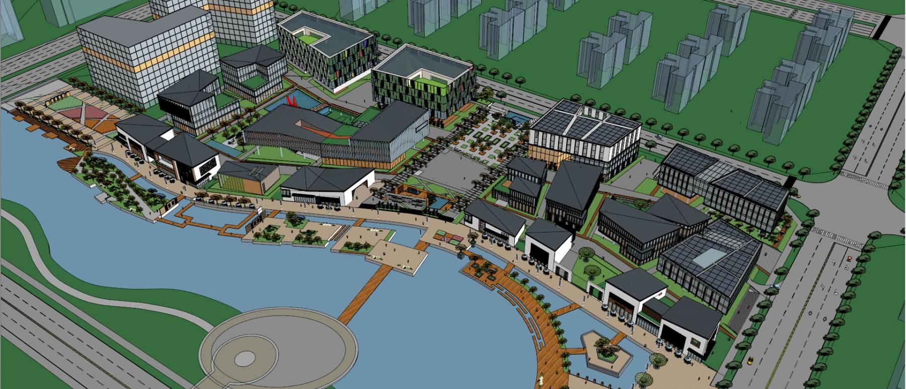 南通滨水现代中式商业街中标方案