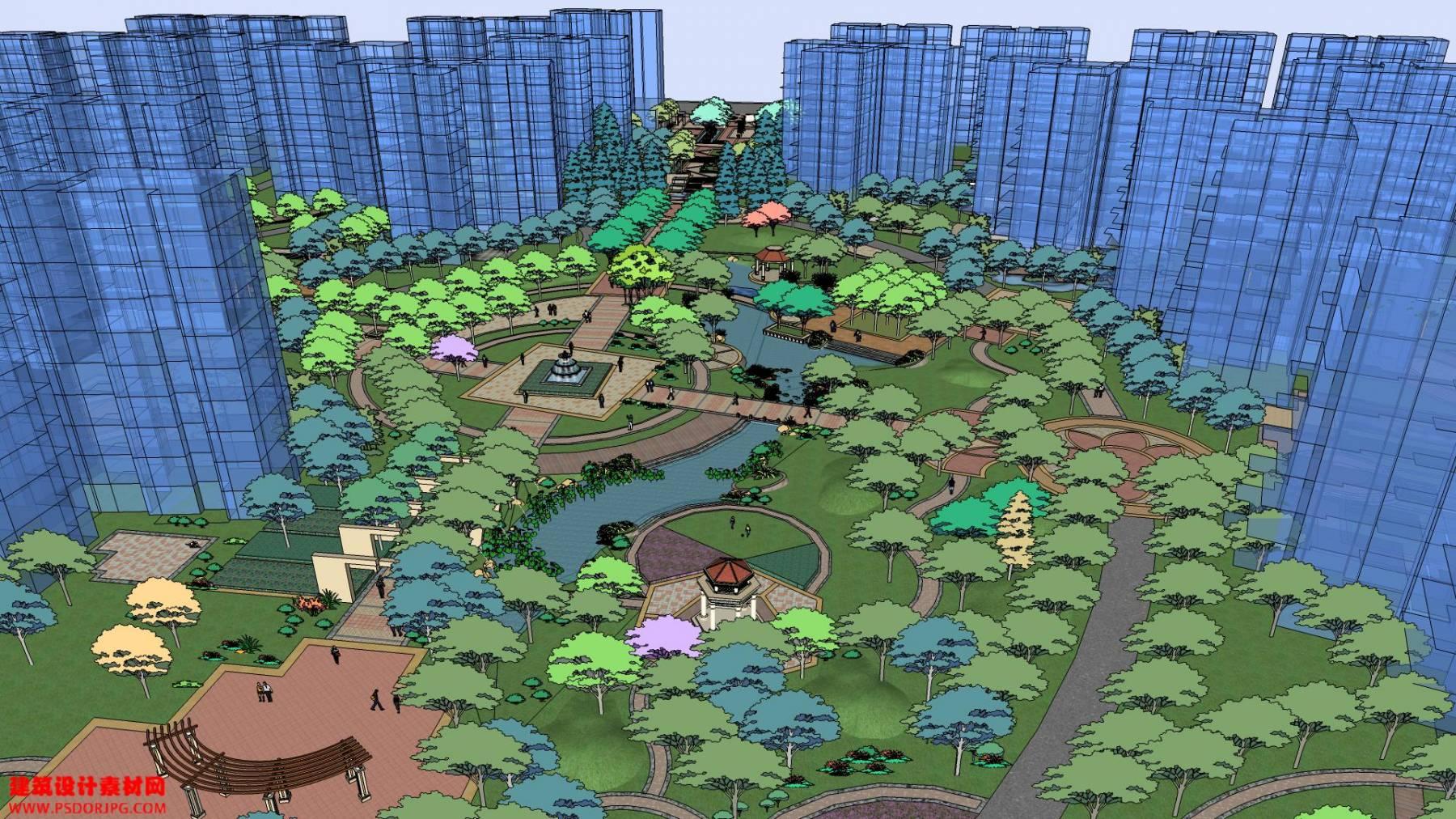 居住区 园林 景观31
