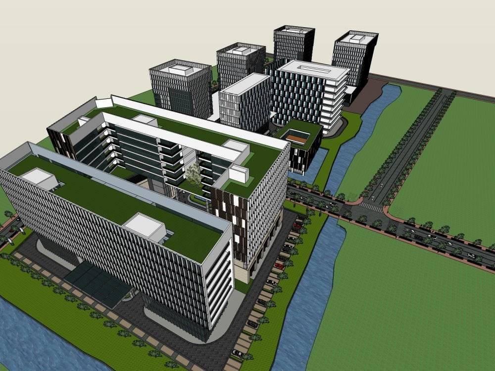 灿辉国际办公园设计