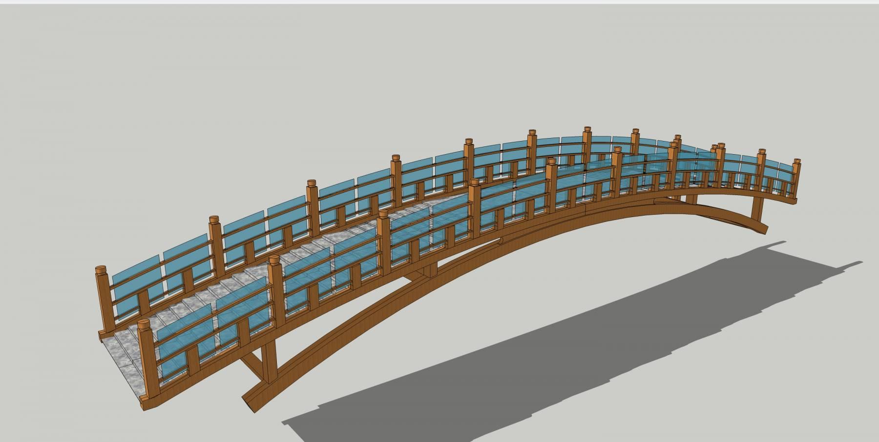人行桥1木桥014