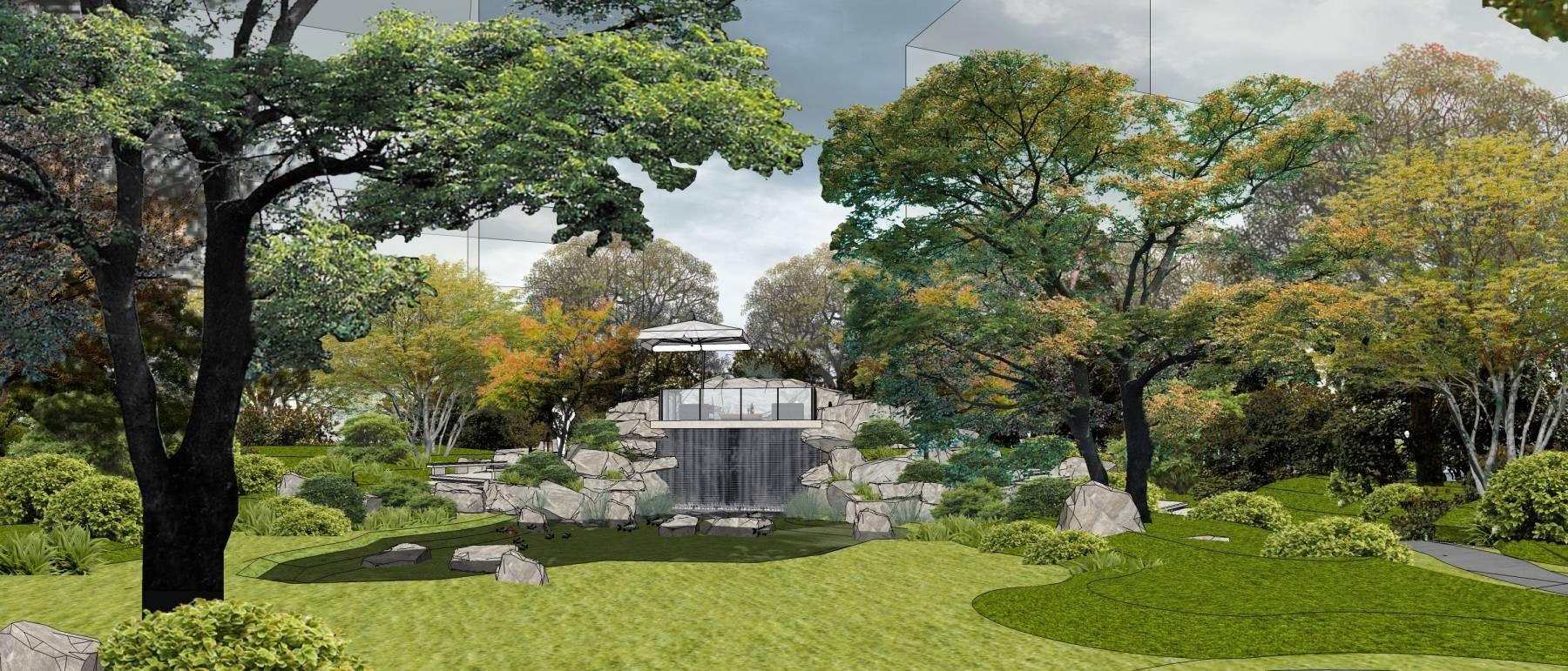 中式景观新中式景观会所su全模