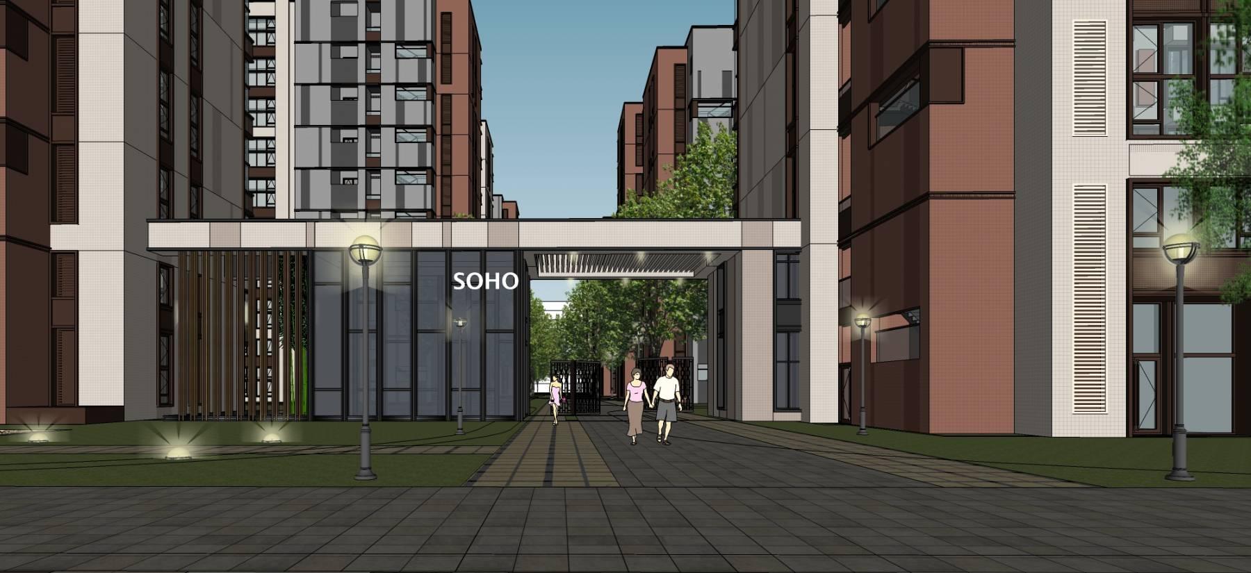 北京金地未来 公寓和商业整体模型