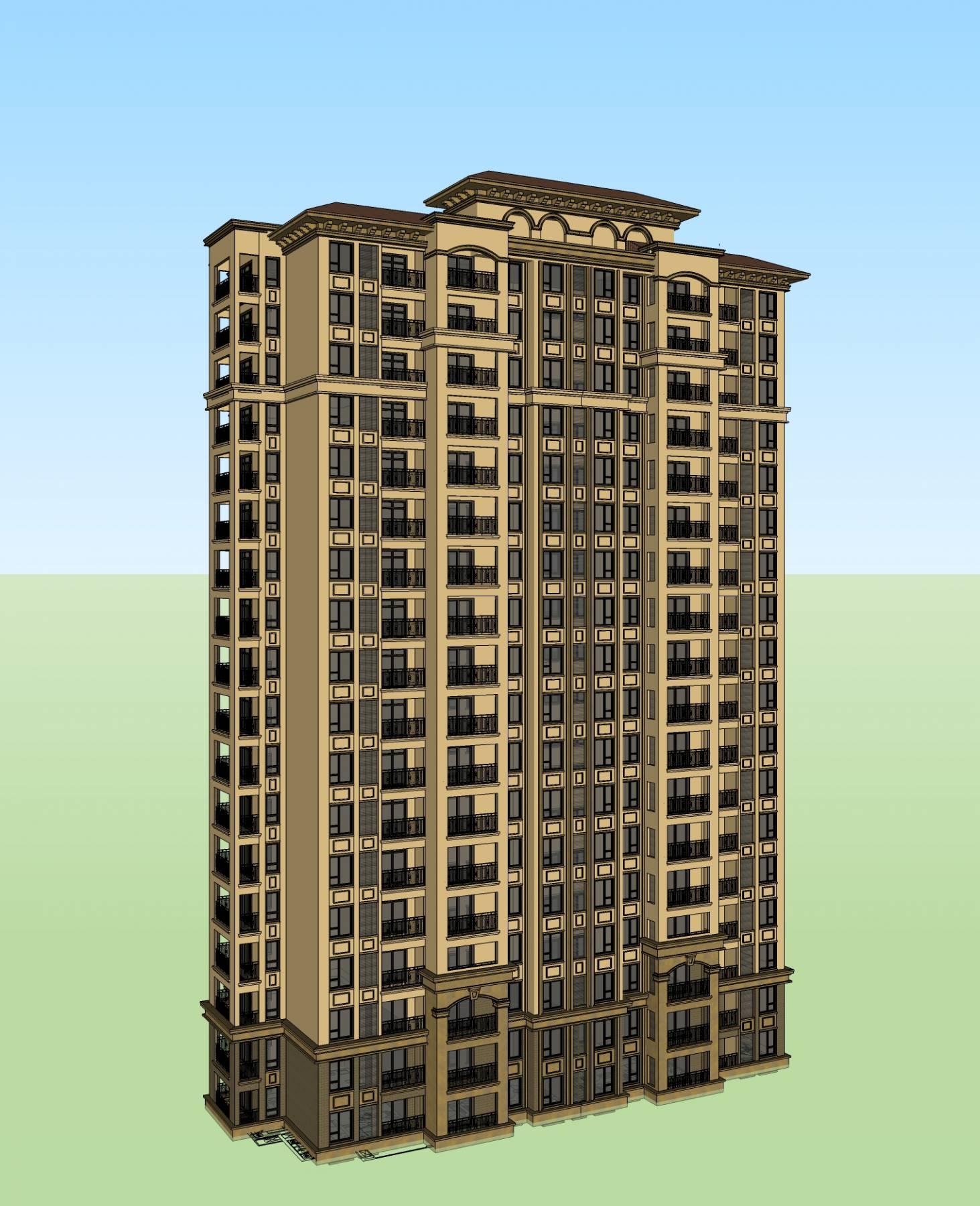 地中海风格 高层住宅2