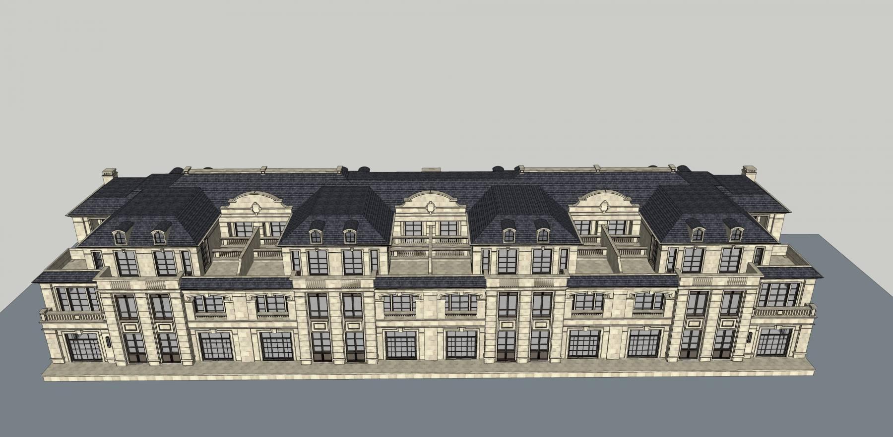 法式联排别墅 精品模型1