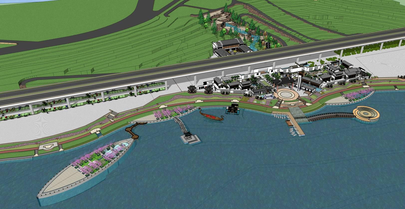 某滨江商业景观规划