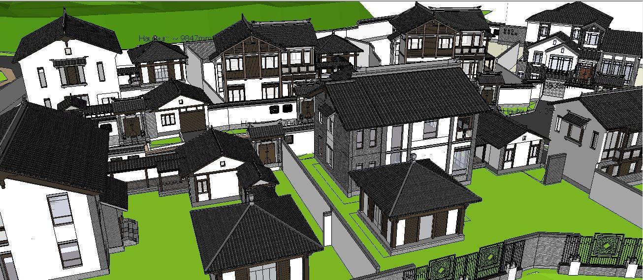 中式别墅建筑群