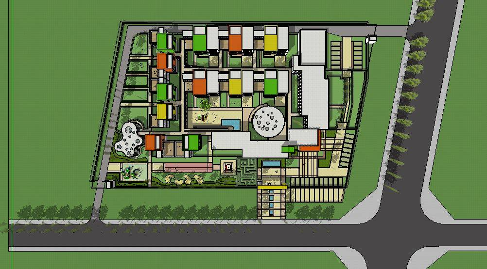 幼儿园设计模型16