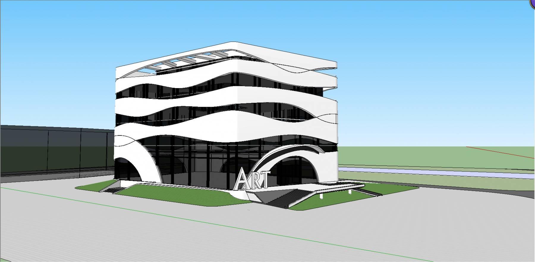 艺术中心 展览馆 商业中心 图书馆