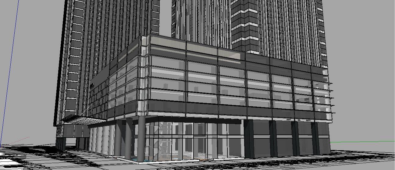 超高层办公酒店综合体精细模型