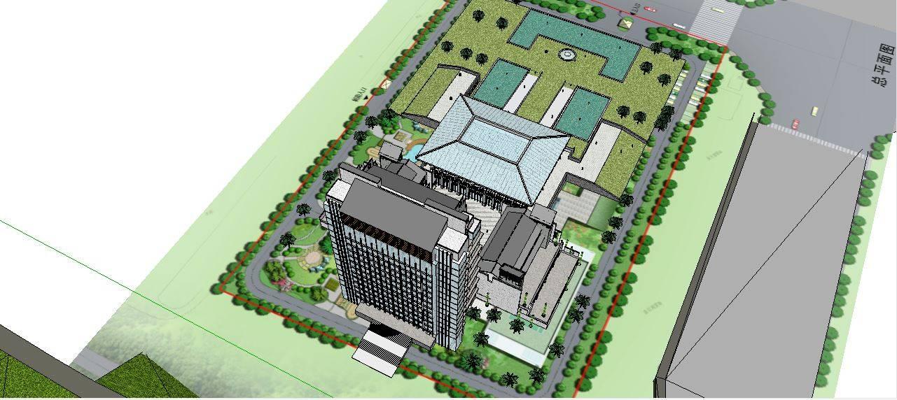 中式風格酒店設計模型