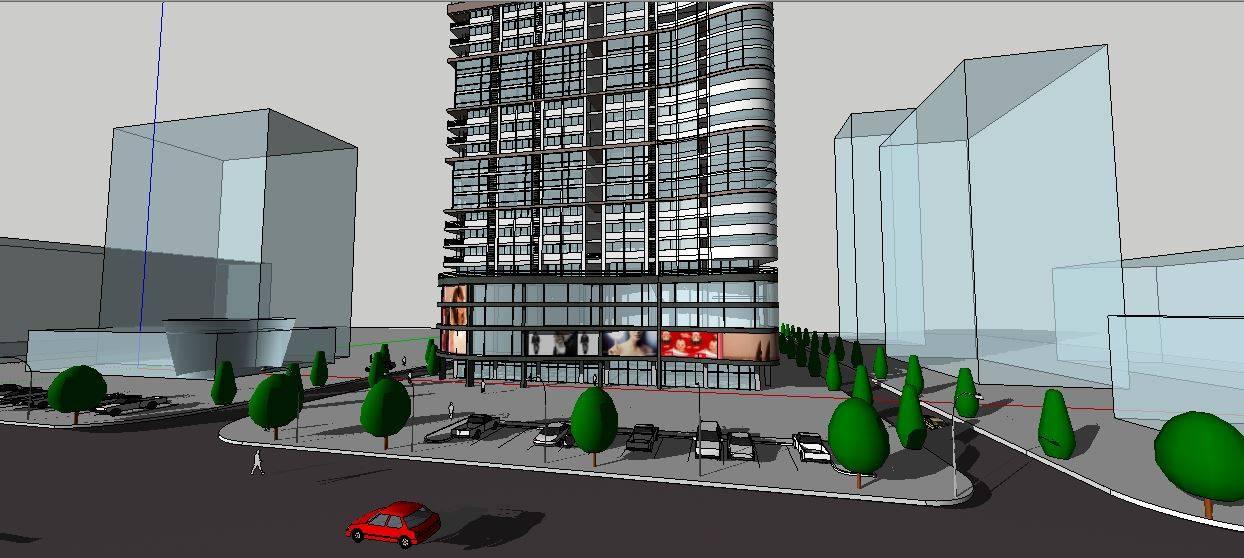 现代高层办公大楼模型