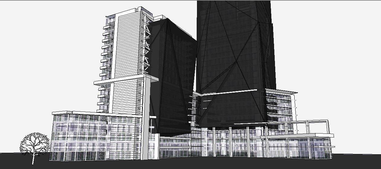 现代高层办公建筑模型