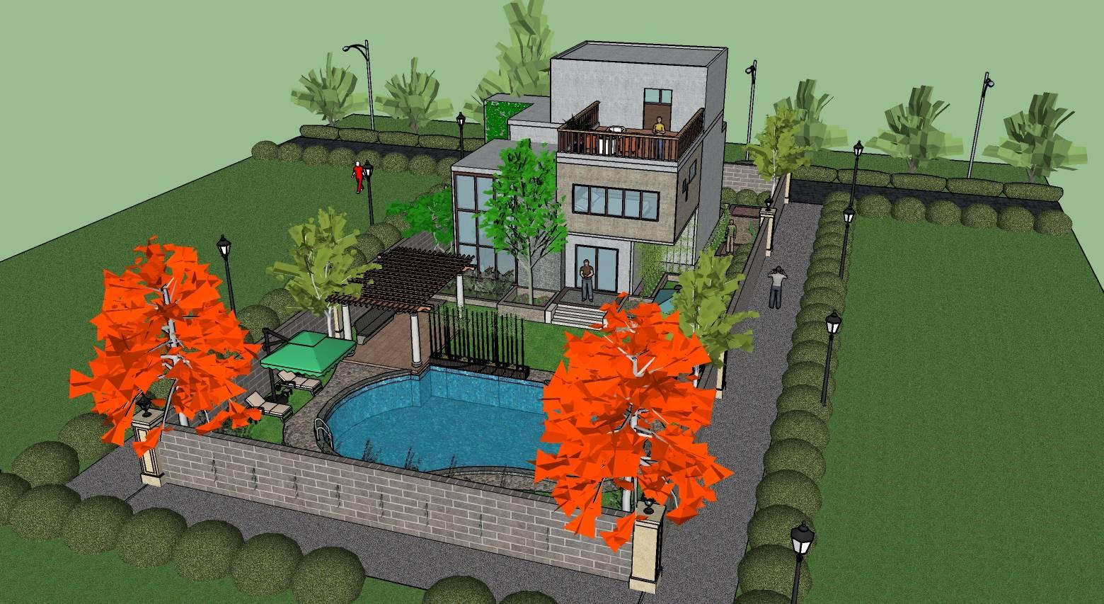 现代别墅环境设计