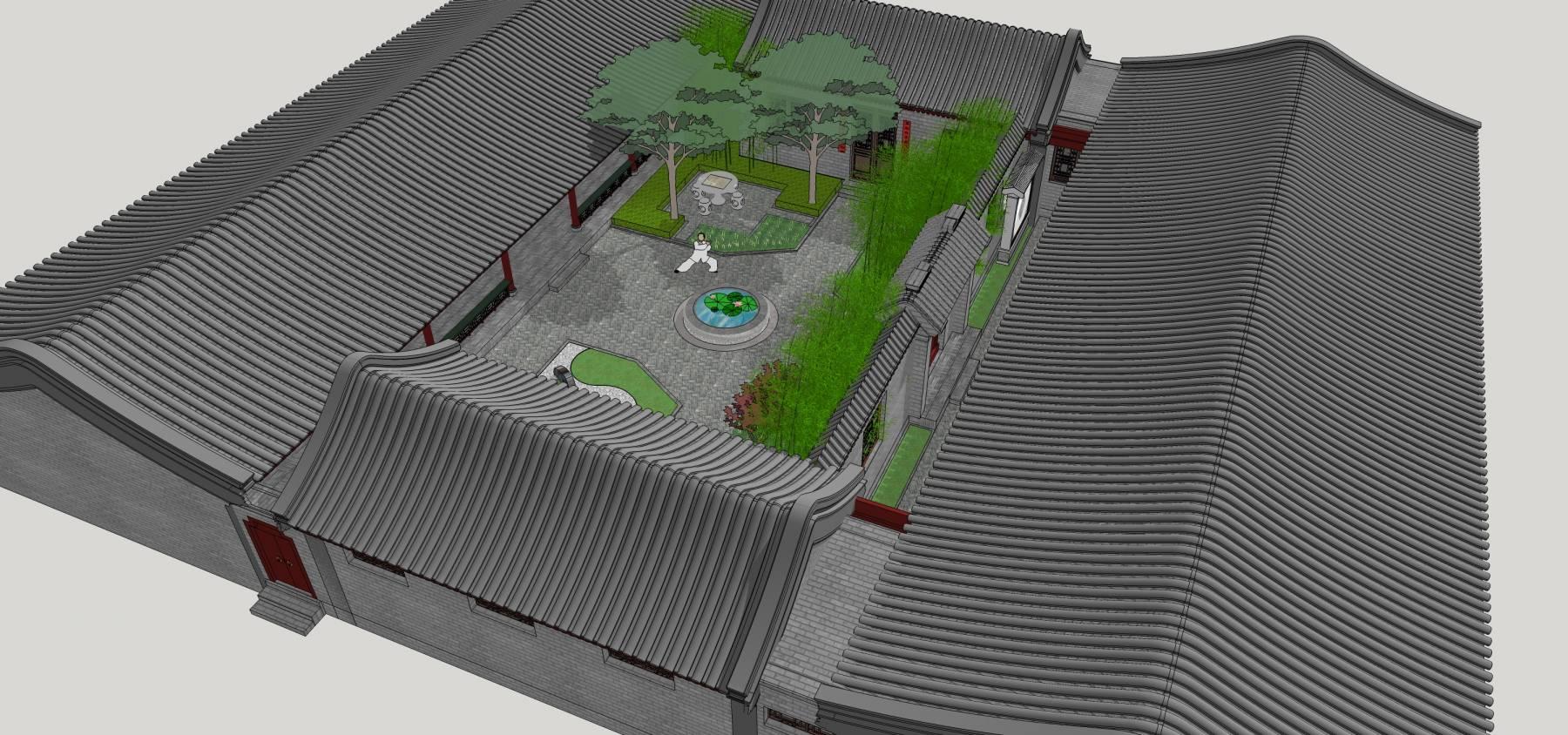 四合院 (1)中式合院中式建筑