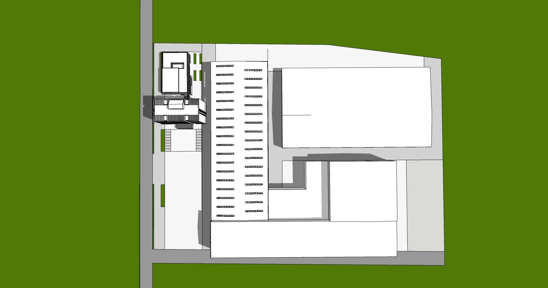 现代厂房及办公楼