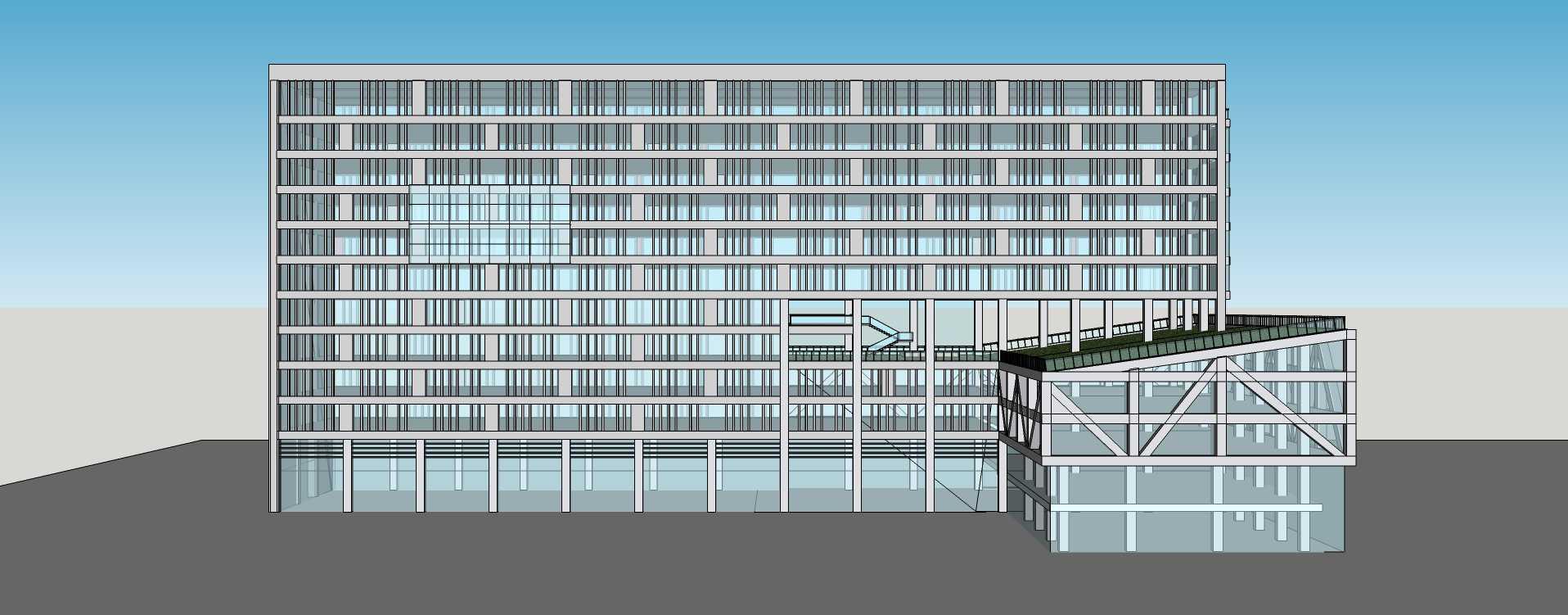 現代小高層辦公樓
