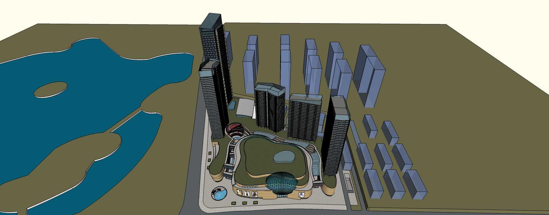 现代风格城市综合体