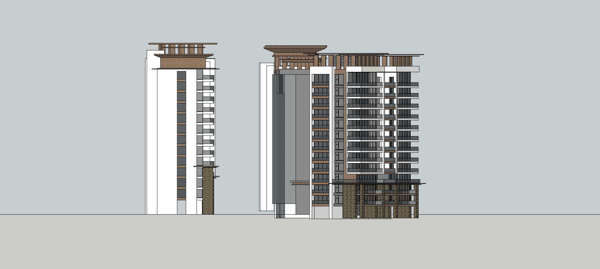 现代高层公寓