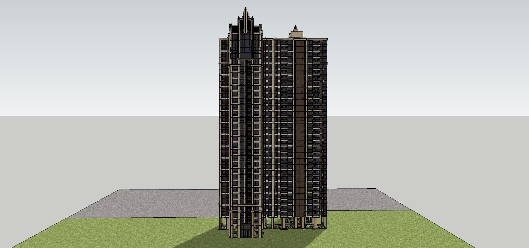 新古典风格高层住宅楼