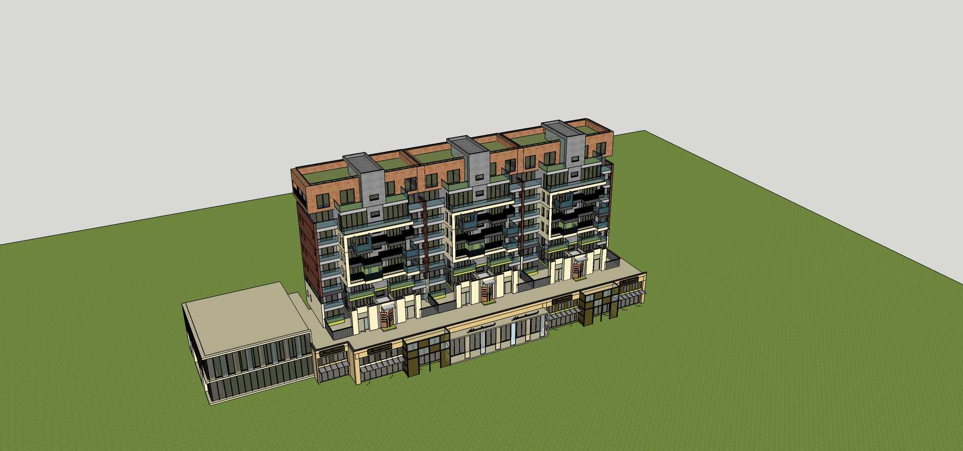 现代小高层商业住宅楼