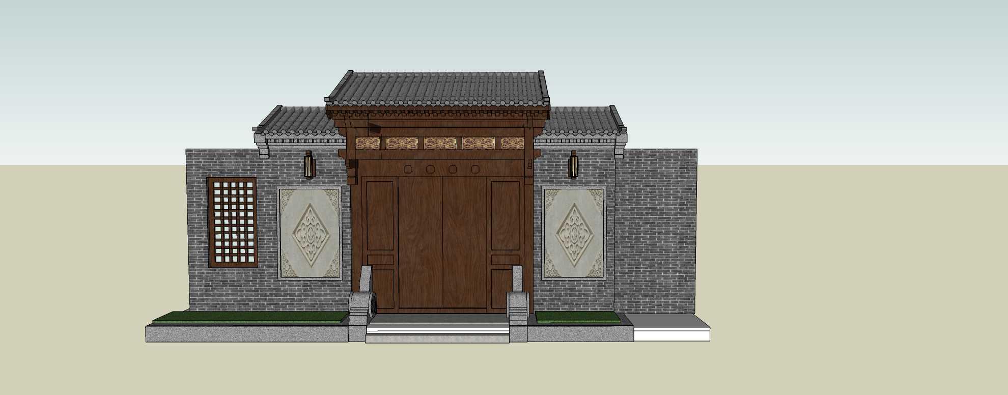 建筑构件-大门
