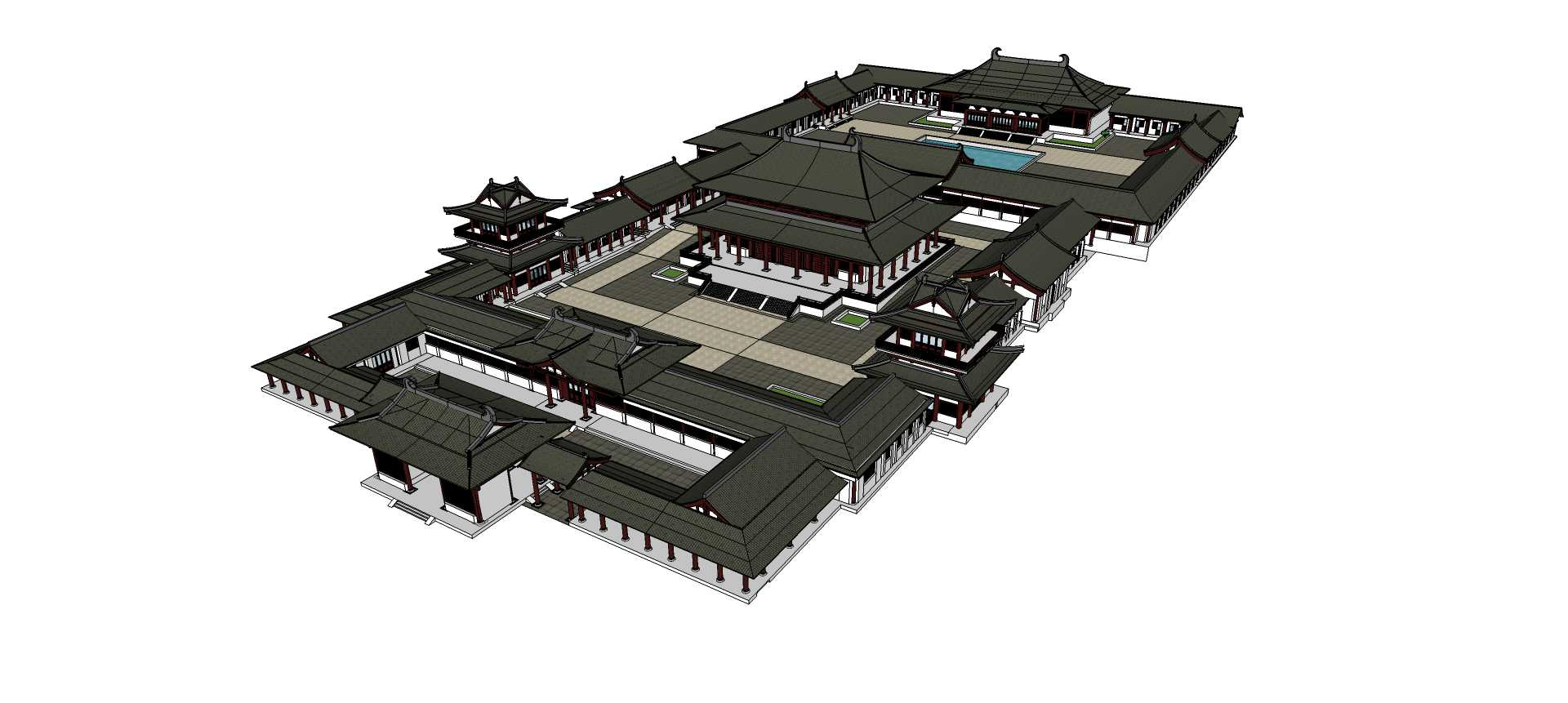 汉唐风古建寺庙